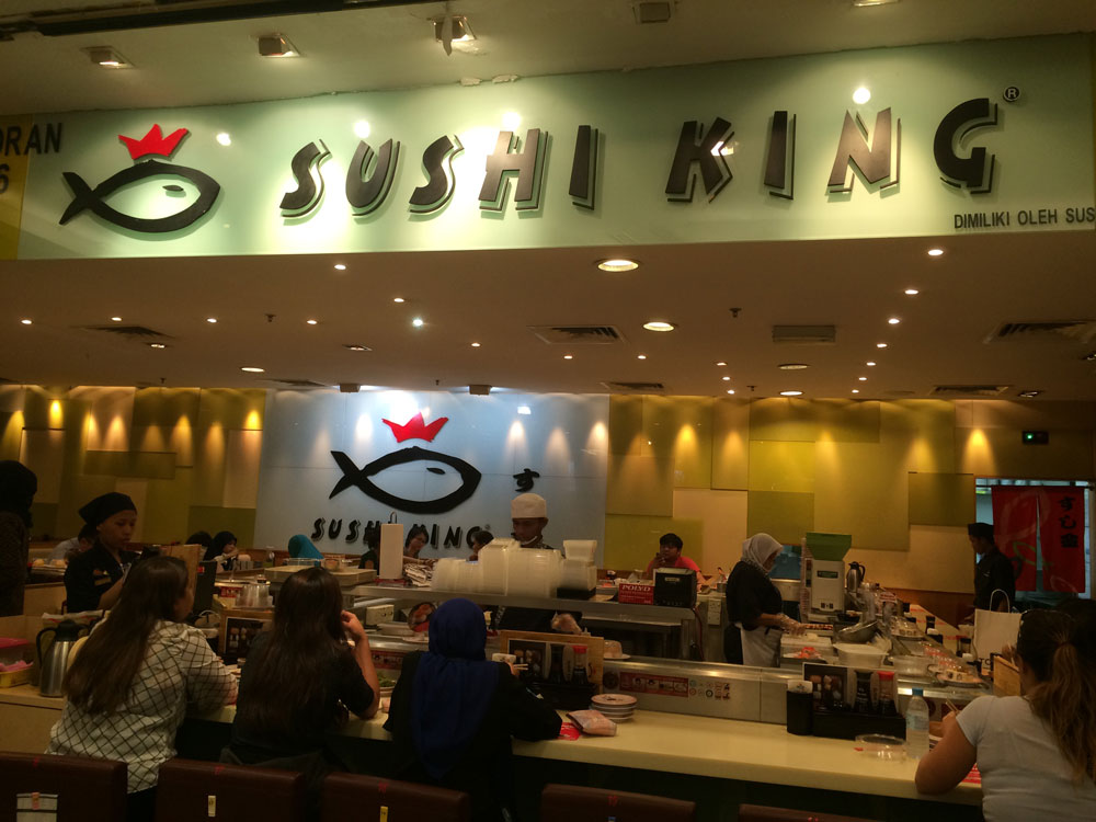 Restaurante Sushi King dentro do shopping Suria
